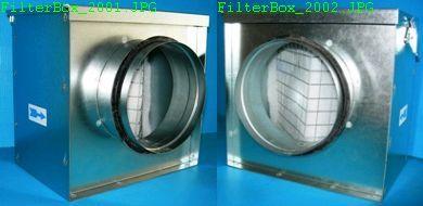 Filterbox mit Filtermatte