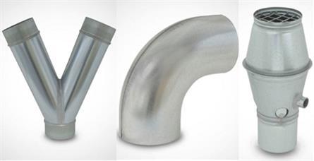 Formteile für Lüftungsrohre