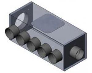 Luftverteiler Isol 125/6x75
