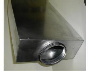 Schalldämpfer DN 125 L=750 rechteckig mit Kulisse