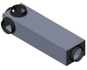 Schalldämpfer PY DN 150mm L=1100 3xDN150