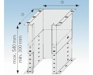 Sockelelement-Ø 113mm- SV- 25mm Isolierung