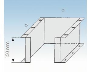 Sockelelement-Ø 113mm- SST- 25mm Isolierung