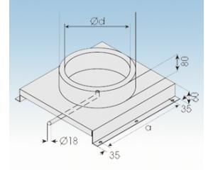 Bodenplatte mit Kondensatablauf 60mm-Höhe-2250-BKSO- 113mm