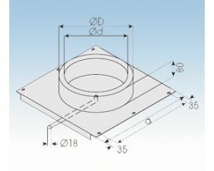 Bodenplatte mit Kondensatablauf-BPK 113mm