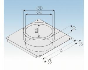 Bodenplatte für Zwischenstütze- 2250-BPZ- 113mm