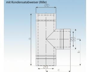 Feuerungsanschluß F90N- Niedertemperatur- 2250-F90N- 113mm