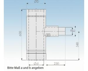 Feuerungsanschluß F1L-90°- 2250-F1L- 113mm