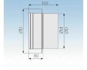 Übergangsstück DW/EW incl. Abdeckung Wärmedämmung- 2250- EÜ- 113