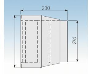 Übergang DW/EW konisch- 2250-EÜK- 113mm