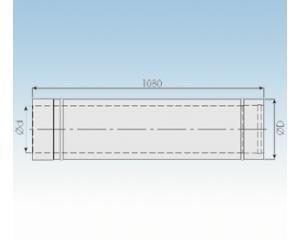 Längenelement 1080mm - kürzbar- 2250- L10ET- 113mm