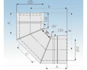 Bogen 90°-2250-B90-113mm