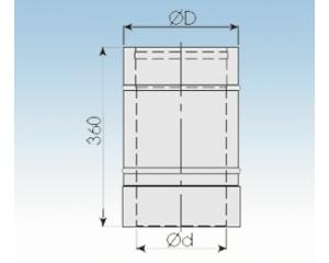 Längenausgleichselement 420-620mm- 2250-LA5-113mm