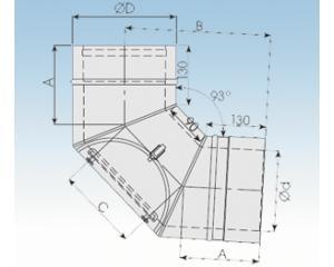 Bogen 93° mit Prüföffnung-2250-BP93-113mm
