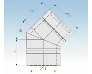 Bogen 30° B30- 2250- B30 113mm