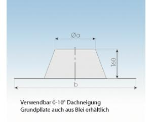 Dachdurchführung flach Edelstahl-2250-DF-113mm