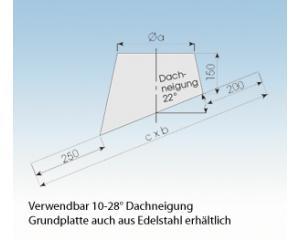 Dachdurchführung geneigt 22° mit Blei DGB22- 113mm