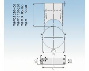 Wandhalter verstellbar 50 - 90mm- 2250-WHV-130mm