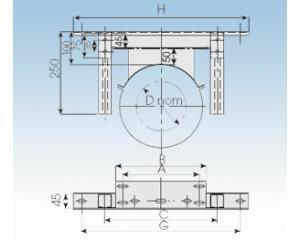 Wandhalterverlängerung verstellb. 100 - 500mm WVLL- 113mm