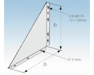 Wandkonsole WK  150mm- 25mm Isolierung